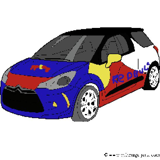 Un coloriage de vehicules r alis par benjamin - Coloriage voiture rallye ...